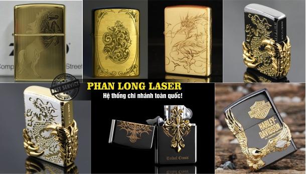Bật lửa Hộp quẹt Zippo khắc chữ khắc tên khắc logo bằng laser tại Cần Thơ lấy liền
