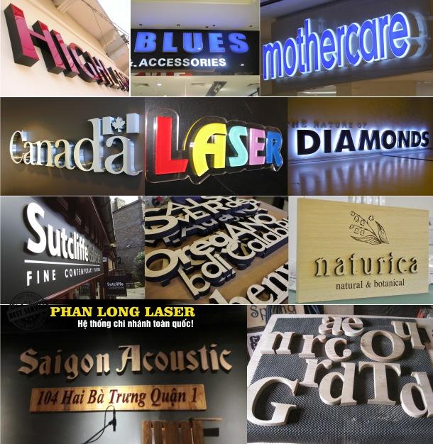 Làm biển quảng cáo mica chữ nổi, biển quảng cáo đèn led mica ở Cần Thơ