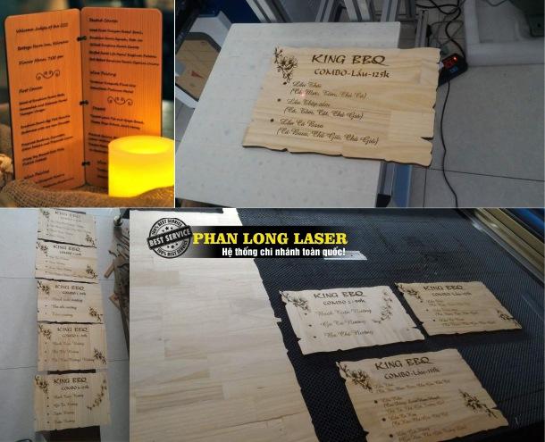 Sản xuất thiết kế và làm menu gỗ ở Cần Thơ lấy liền giá rẻ